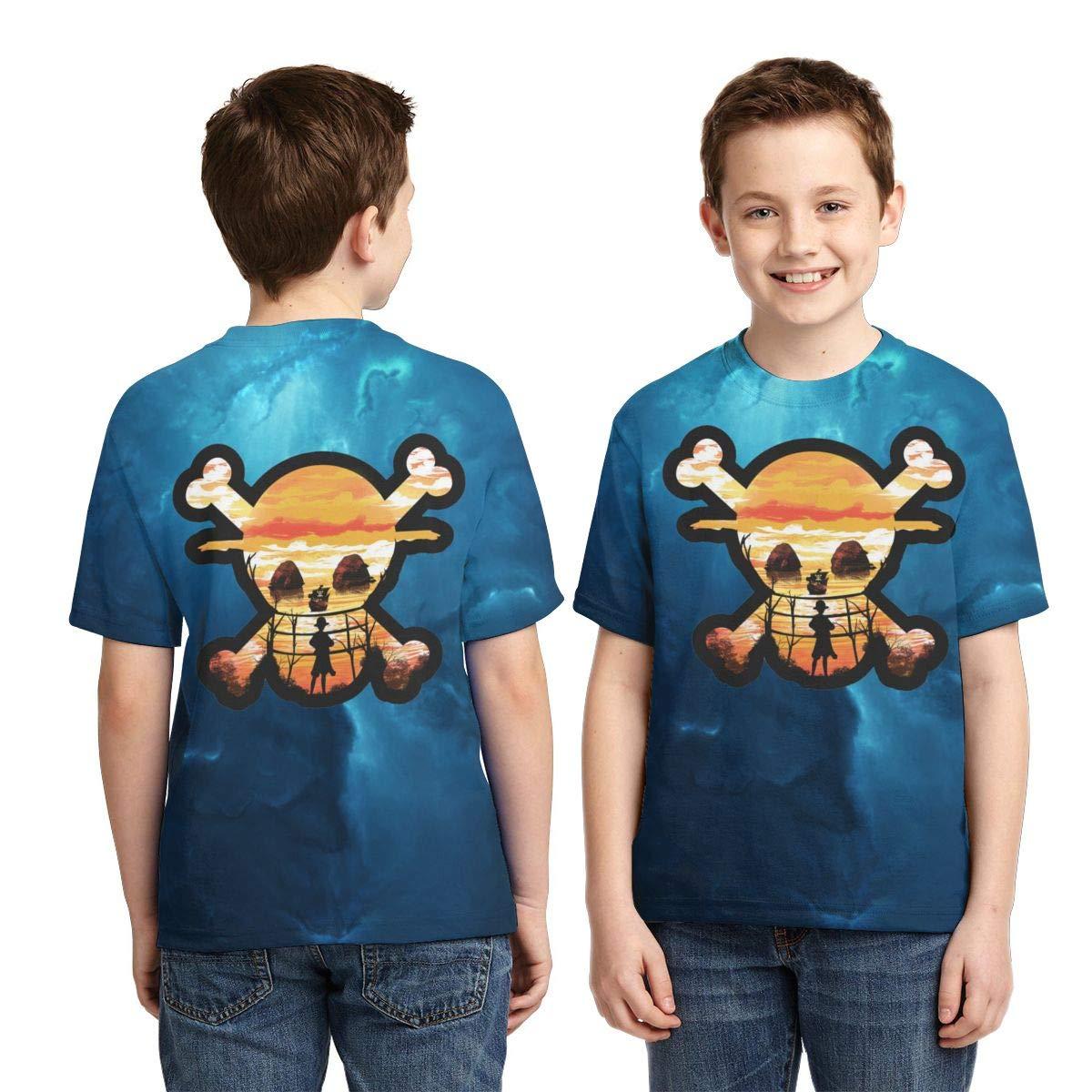 Zengqinglove Boys,Girls,Youth Vintage One Piece Anime Tee Shirt