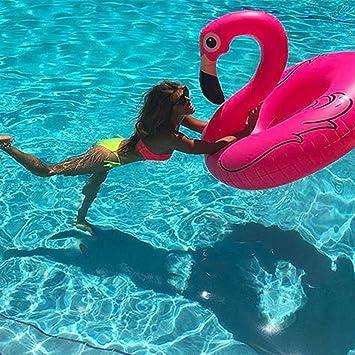 wowelife inflable Flamingo piscina flotador tubo de fiesta con rápida válvulas verano al aire libre piscina salón Balsa decoración juguetes para niños y ...