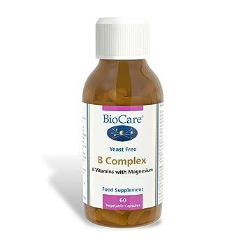 Biocare B Complex (enzyme activated plus magnesium), 60 vegi tapas ...