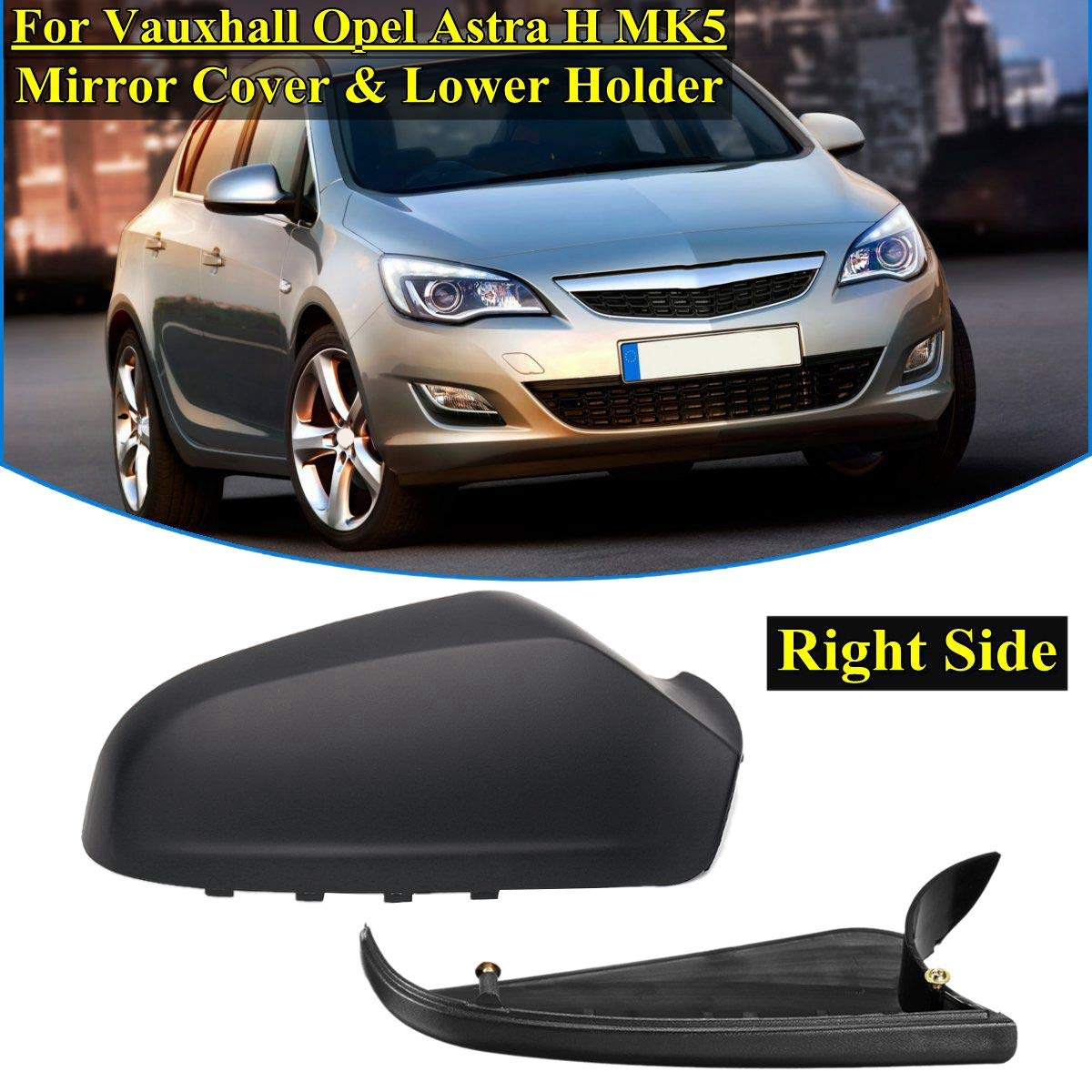 Sothat Car Left Side Mirror Housing Wing Mirror Cover For Vauxhall Astra H Mk5 2004-2009