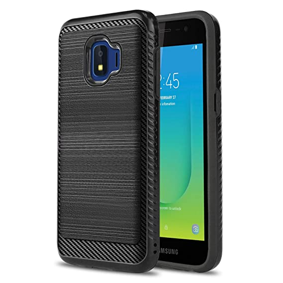 size 40 2658c 00228 Phone Case for [Samsung Galaxy J2 CORE (Metro PCS)], [Modern Series][Black]  Shockproof Brushed Cover [Impact Resistant][Defender] for Samsung Galaxy ...