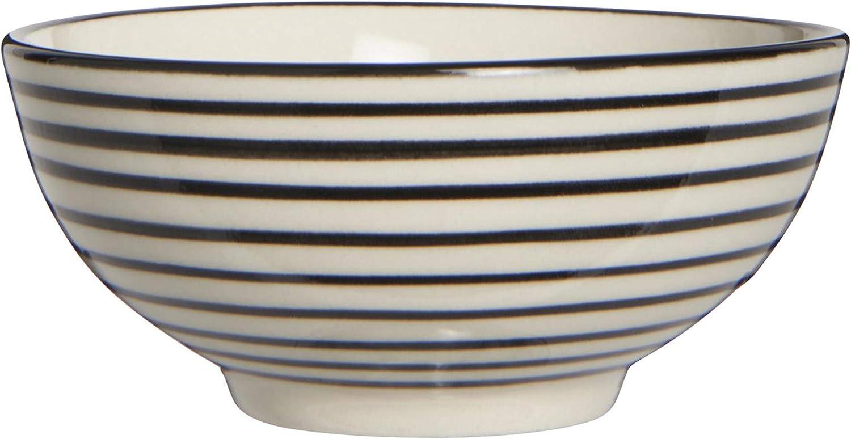 Ib Laursen Schale mini Casablanca schwarz gestreift Schälchen Keramik