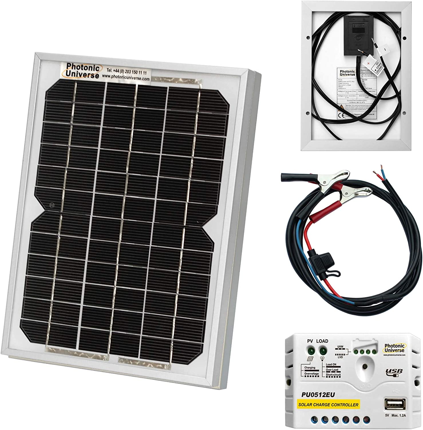 12 volt solar battery charger kit