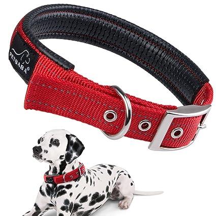 PETBABAB Collares Perros, Suave Acolchada Reflectante Ajustable ...