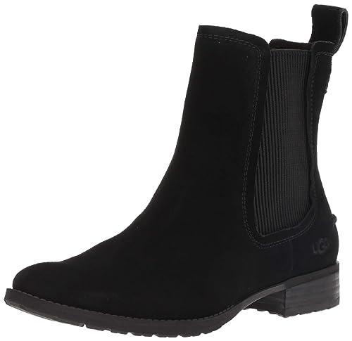 a5200ef82b0 UGG - HILLHURST Boot - Black Suede - Ankle Boots (4 UK/EU37): Amazon ...