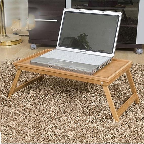 Amazon.com: GAOYANG Adjustable Laptop Bed Stand,Cuaderno De Madera Maciza, Mesa Plegable De La Computadora, Escritorio De La Computadora De La Cama De Bambú ...