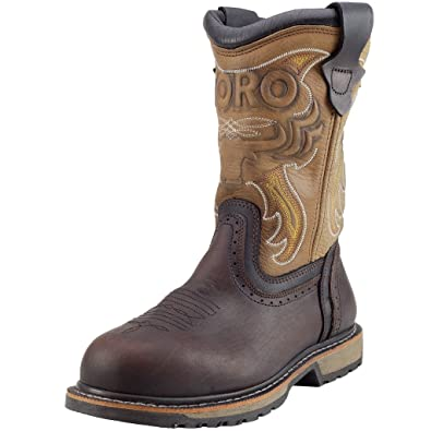 "TORO Men's TRR1 10"" Steel-Toe Work Boot - Brown 6 US"
