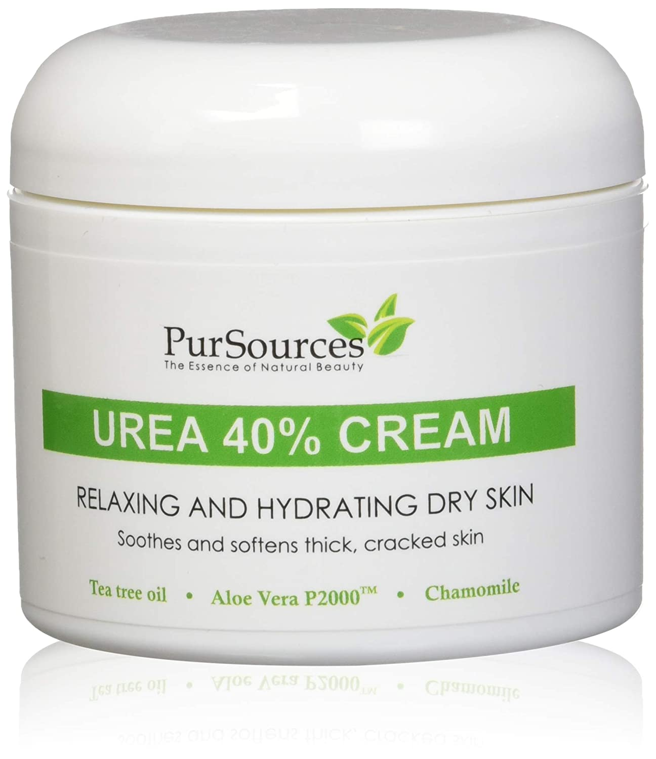 PurSources Urea 40% Healing Cream 4 oz - Best Callus Remover + Free Pumice Stone - Moisturizes and Rehydrates Feet to a Healthy Appearance - Soothes and Softens Thick, Cracked, Rough Dead and Dry Skin
