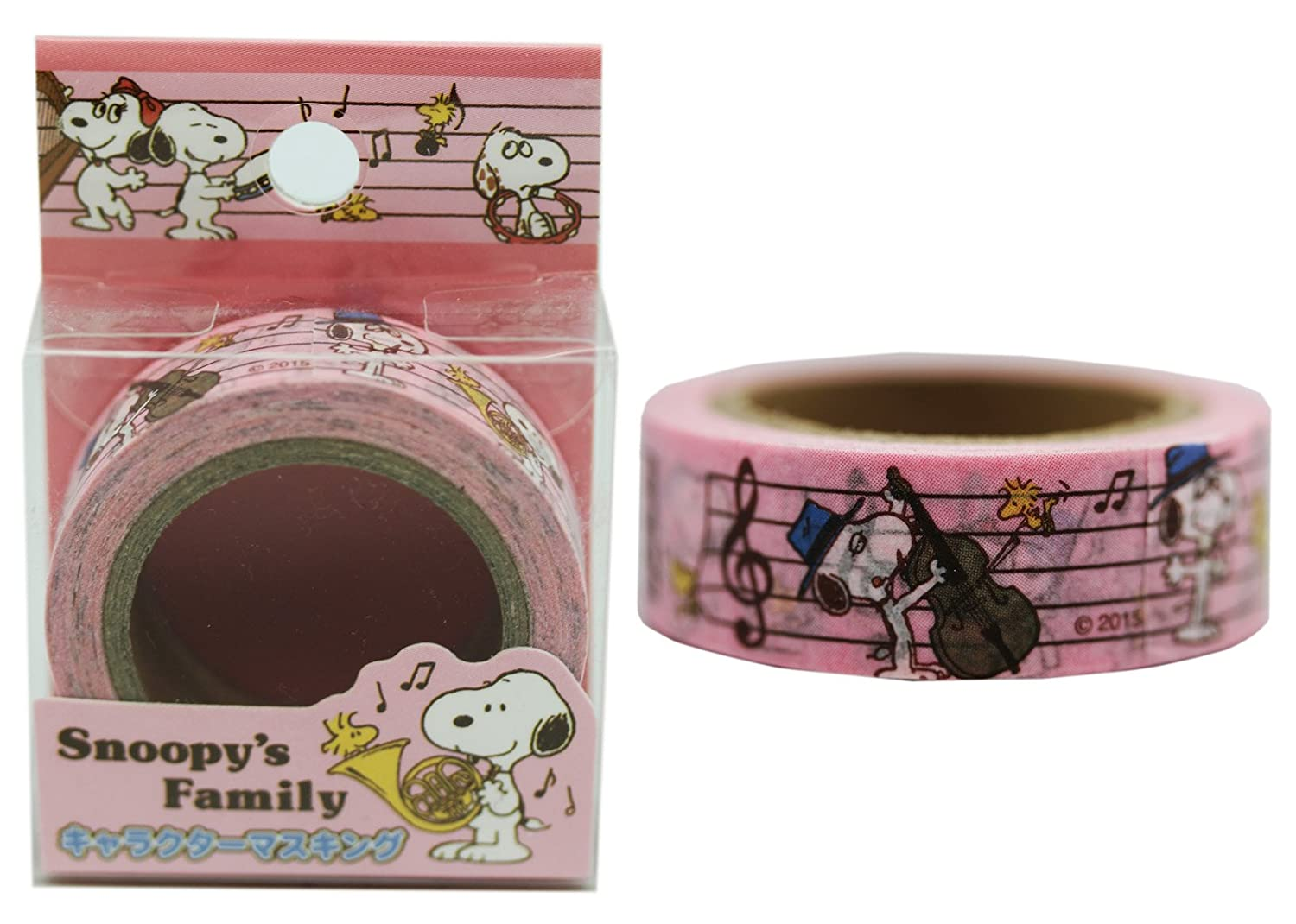 Snoopy Pink colord Decorative Music Measure Themed Border Tape