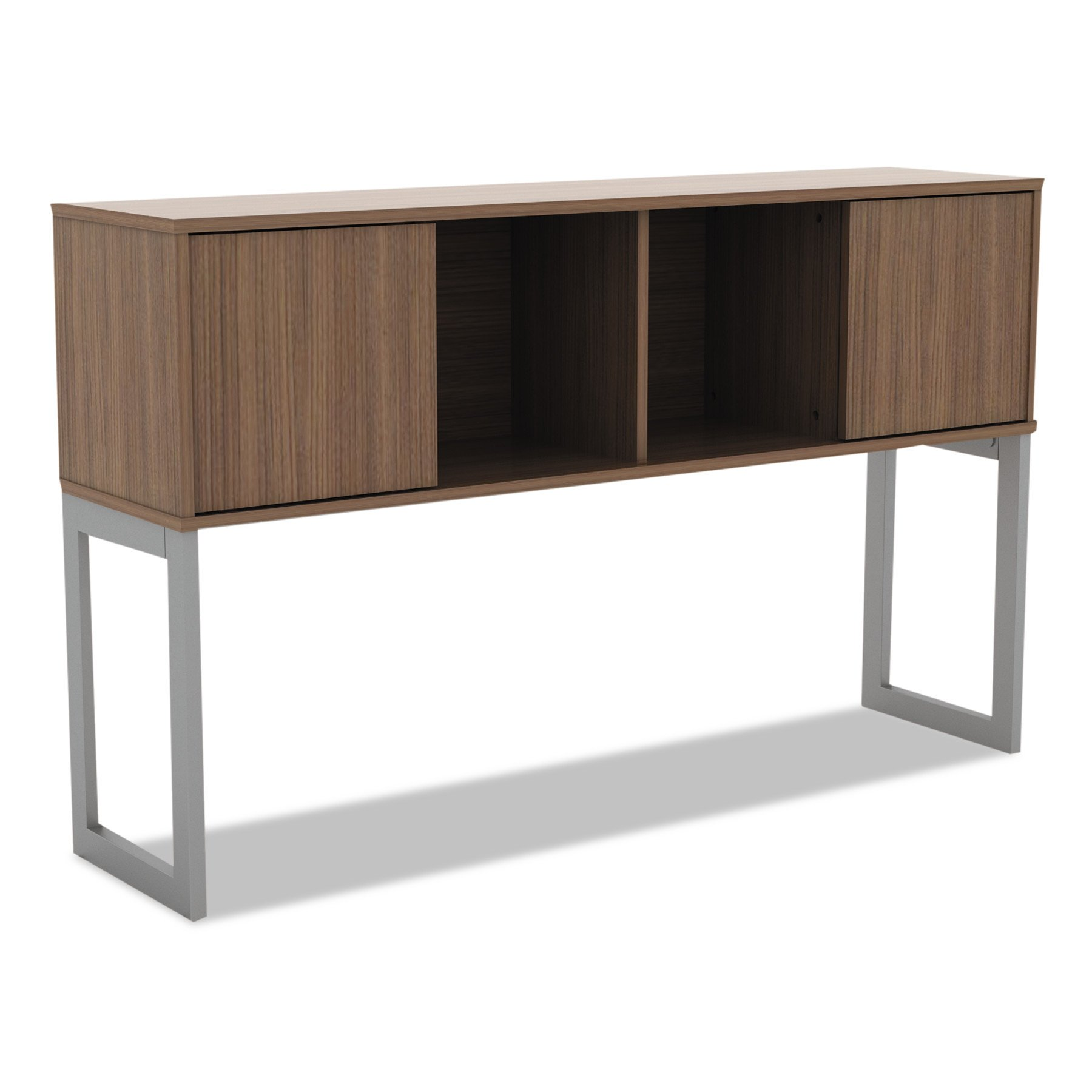 Alera ALELSHH60WA Open Office Desk Series Hutch, 60w x 15d x 36 1/2h, Modern Walnut