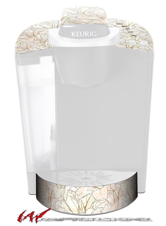 花パターン17 – デカールスタイルビニールスキンFits Keurig k40 Eliteコーヒーメーカー( Keurig Not Included )   B017AK8V94