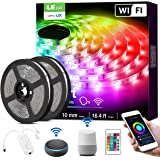 Alexa Smart LED Strip Lights, 32.8ft RGB Color Changing LED Light Strip Works with Alexa and Google Home, App, Remote…