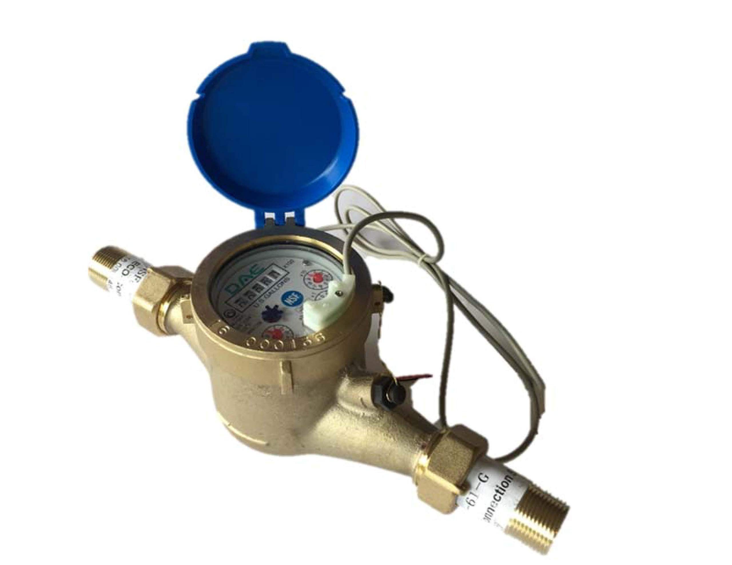 DAE MJ-75 Lead Free Potable Water Meter, 3/4'' NPT Couplings, Pulse Output, Gallon by DAE