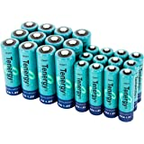 Tenergy High capacity NiMH Rechargeable battery package: 12 AA 2600 mAh + 12 AAA 1000 mAh