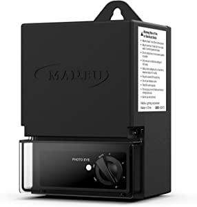 Malibu 45 Watt Low Voltage Power Pack Transformer, with Photo Eye Sensor and Timer, Black Matte 3100-1045-01