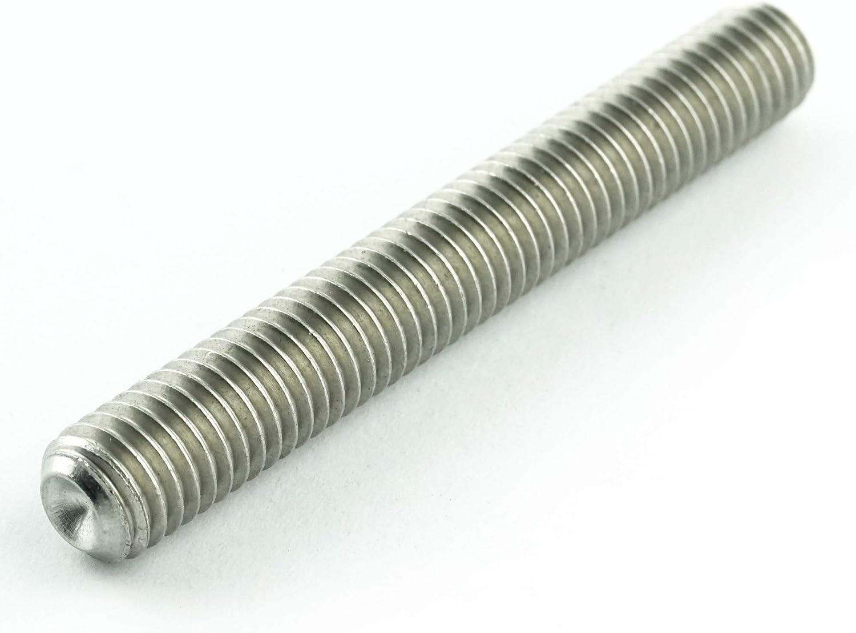 ISO 4029 - Madenschrauben DIN 916 Eisenwaren2000 rostfrei M10 x 45 mm Gewindestift mit Innensechskant und Ringschneide 10 St/ück Gewindeschrauben Edelstahl A2 V2A