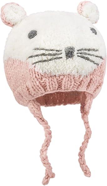 RARITY-US Kids Toddlers Winter Ear Flap Beanie Hat Cute Bear Warm Pom Pom Knit Hat
