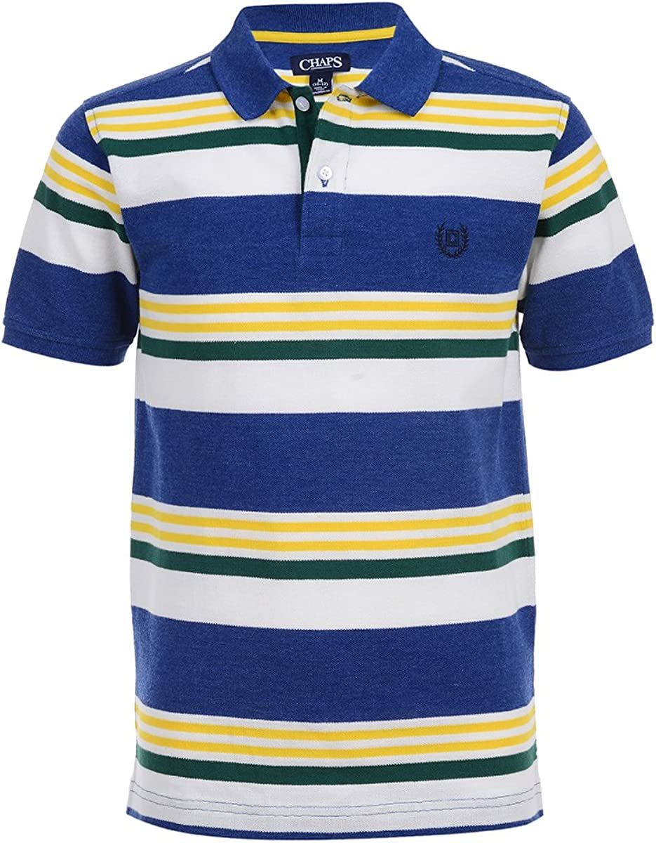 Chaps Boys Short Sleeve Striped Polo