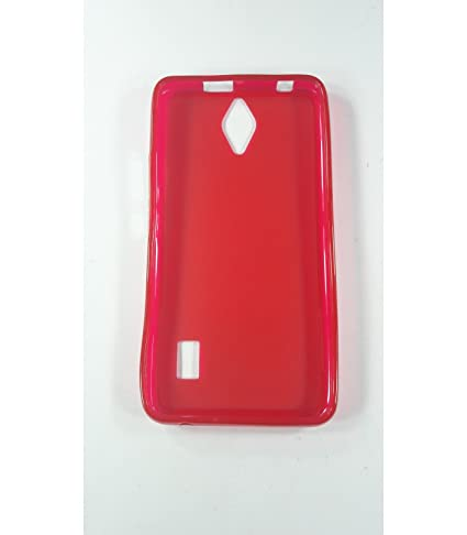 Funda de gel TPU carcasa protectora silicona para Huawei Ascend Y635 Roja