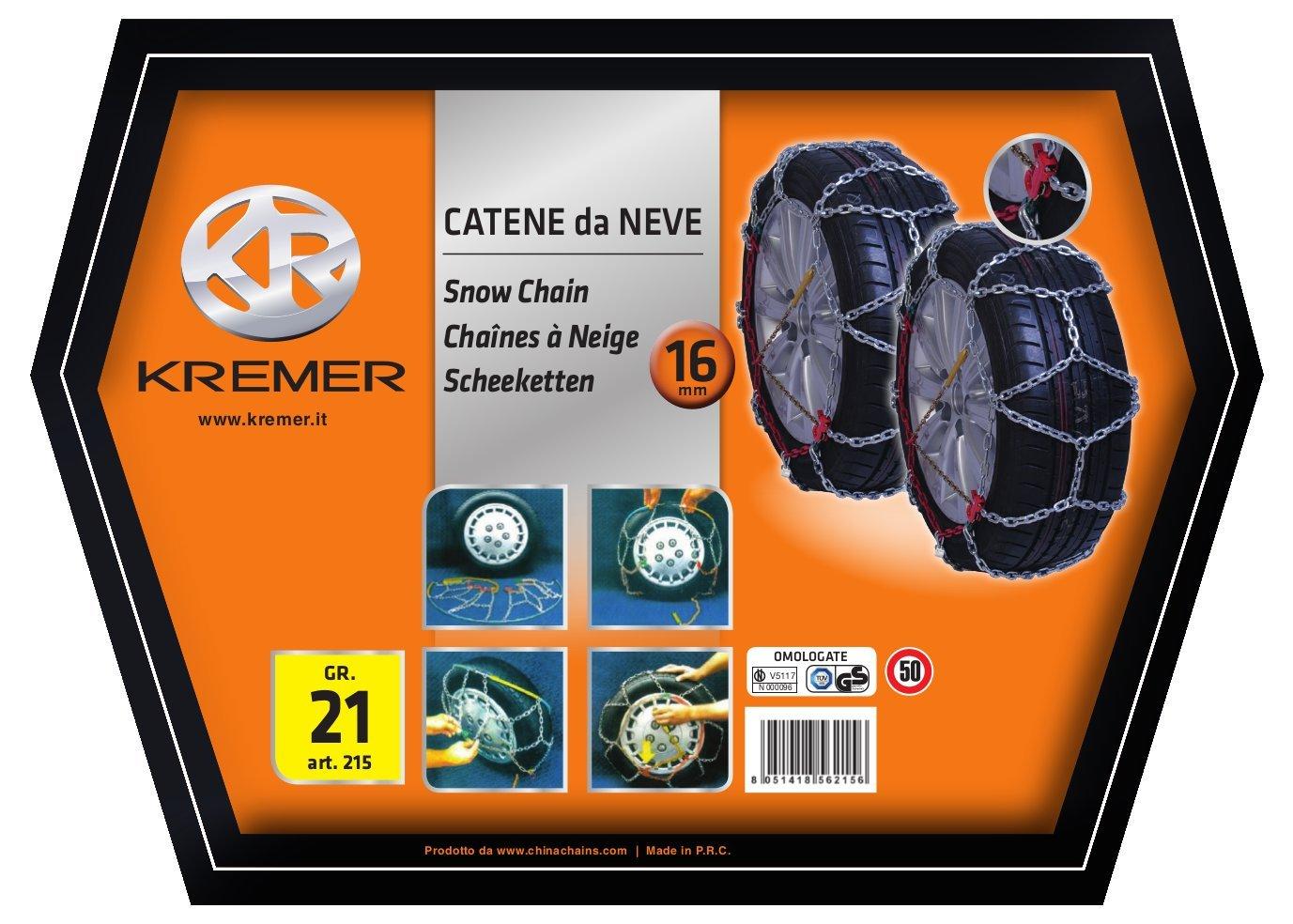 KREMER 217 Cha/îne /à Neige Groupe 22.5 16 mm