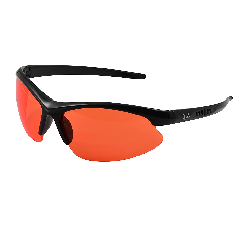 Amazon.com: OX Legacy Orange Wraparound Blue Light Blocking Glasses ...