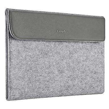 44cbf6ac7850 EasyAcc 13-13.3 Inch Laptop Sleeve Felt and PU Leather Case Cover ...