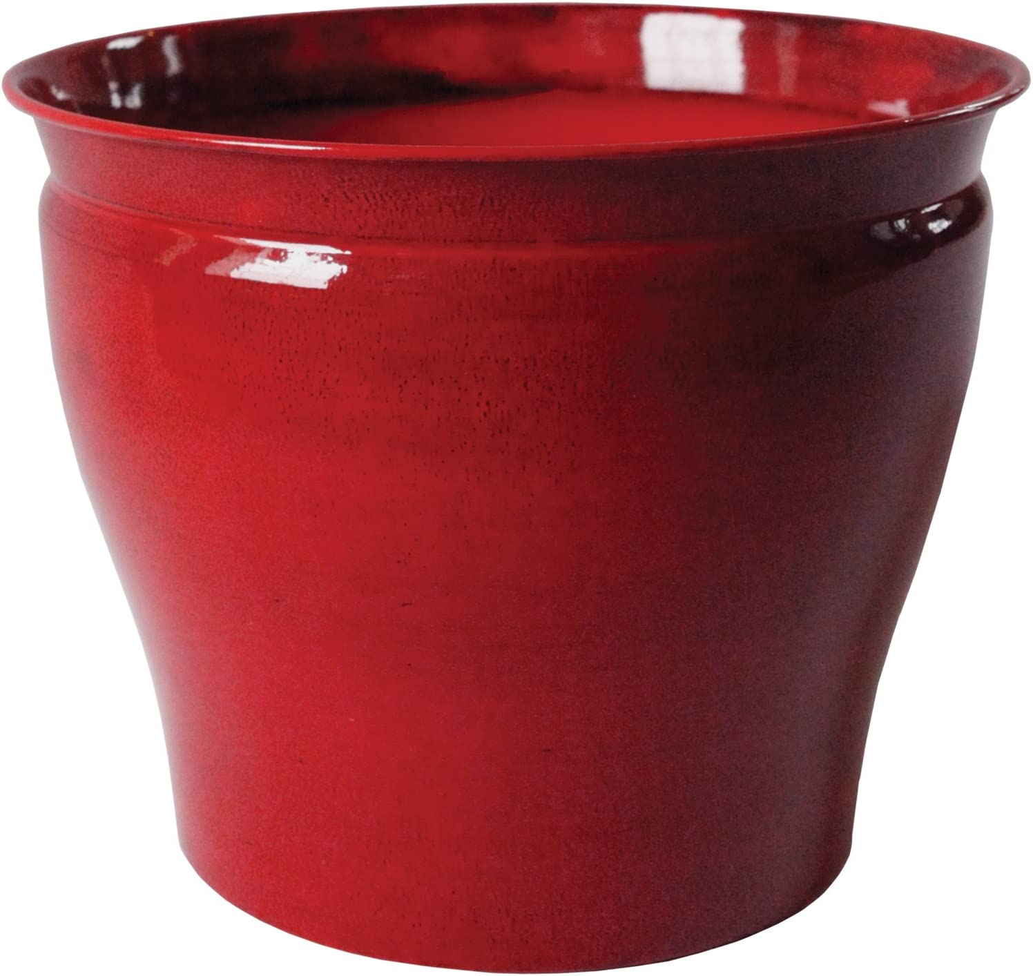 Robert Allen Home & Garden MPT01596 Avery Classic Ironstone Metal Planter Flower Pot, 6 inch, Autumn Blaze