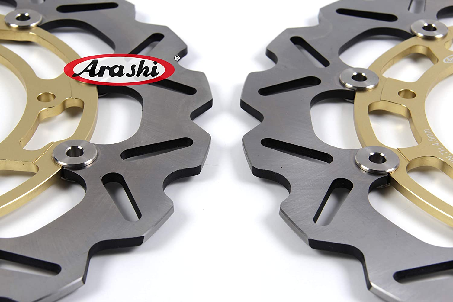 Arashi Front Rear Brake Disc Rotors for YAMAHA YZF R6 2005-2015 Motorcycle Replacement Accessories YZF-R6 2006 2007 2008 2009 2010 2011 2012 2013 2014 Black YZF-R1 R1