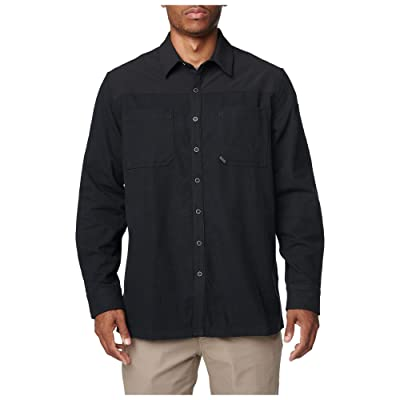 5.11 Tactical Men's Ascension Long Sleeve Shirt Collar, XL, Black, Style 72496 at Amazon Men's Clothing store