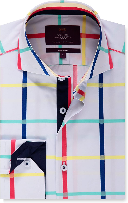 HAWES & CURTIS - Camisa Casual - Cuadrados - Cutaway ...