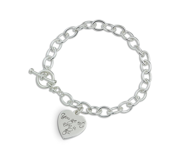 29ba76aef8374 Amazon.com: Custom handwriting charm bracelet - Signature charm ...