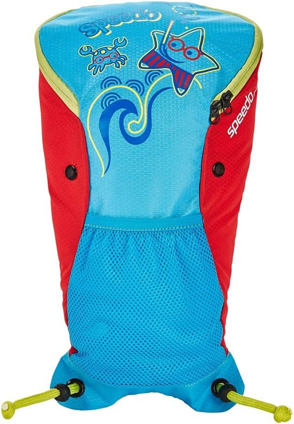Speedo Sea Squad–Mochila, Color Azul y Rojo Lava, tamaño único