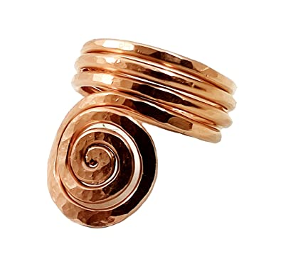 copper thumb braclets rings Copper and