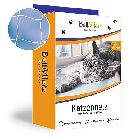 BellMietz Gato Red para Balcón y Ventana | Extragroßes 8 x 3 m Gatos de Red