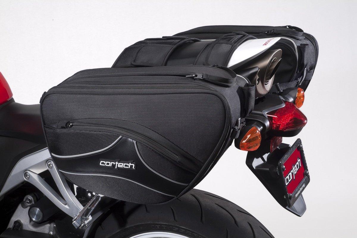 Cortech 8230-0305-26 Super 2.0 Black Contoured Sportbike Saddlebag by Cortech