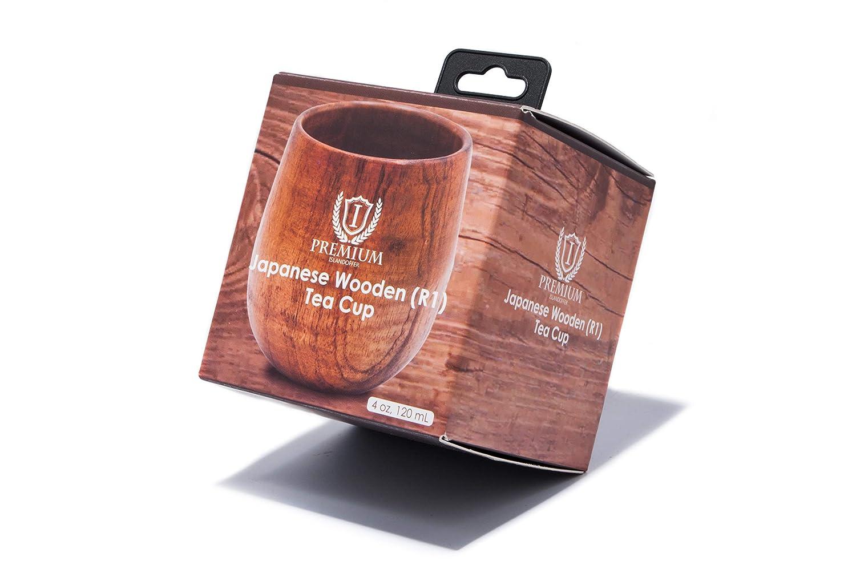 120 mL 4 oz 2X Islandoffer Japanese Wooden Tea Cup