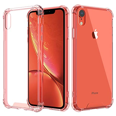 MoKo Compatible with iPhone XR Case, Crystal Clear Reinforced Corners TPU Bumper + Anti-Scratch Hybrid Rugged Transparent Hard Panel Cover Fit with ...