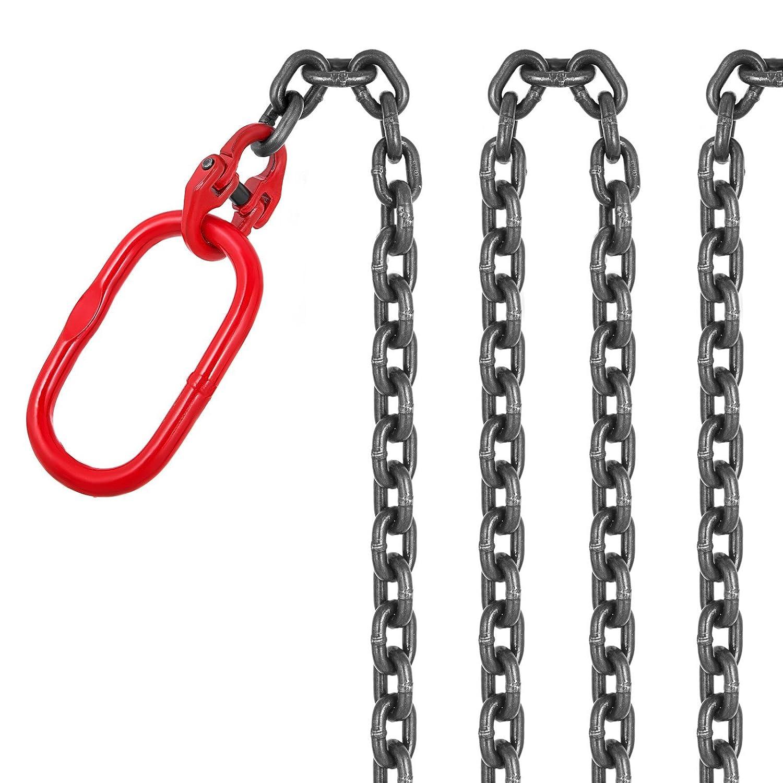 5//16 x 15 OrangeA 15FT Chain Sling 5//16 x 15 Single Leg with Grab Hooks Sling Chain 2.2T Grade 80