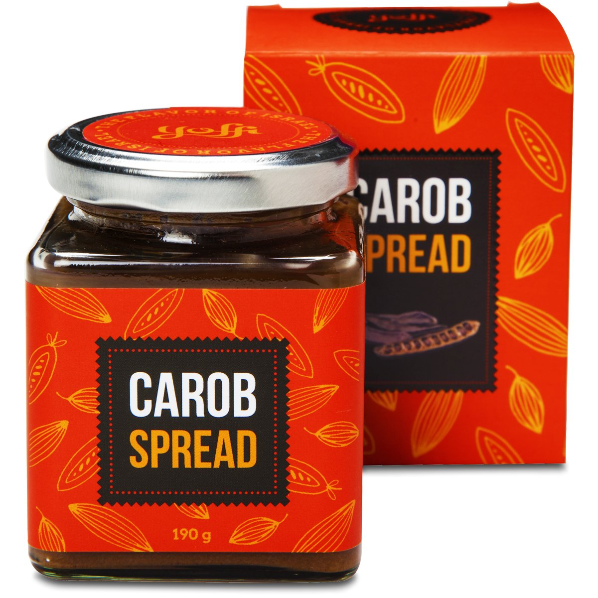 Yoffi Natural Carob Spread Kosher 6.7 Ounce
