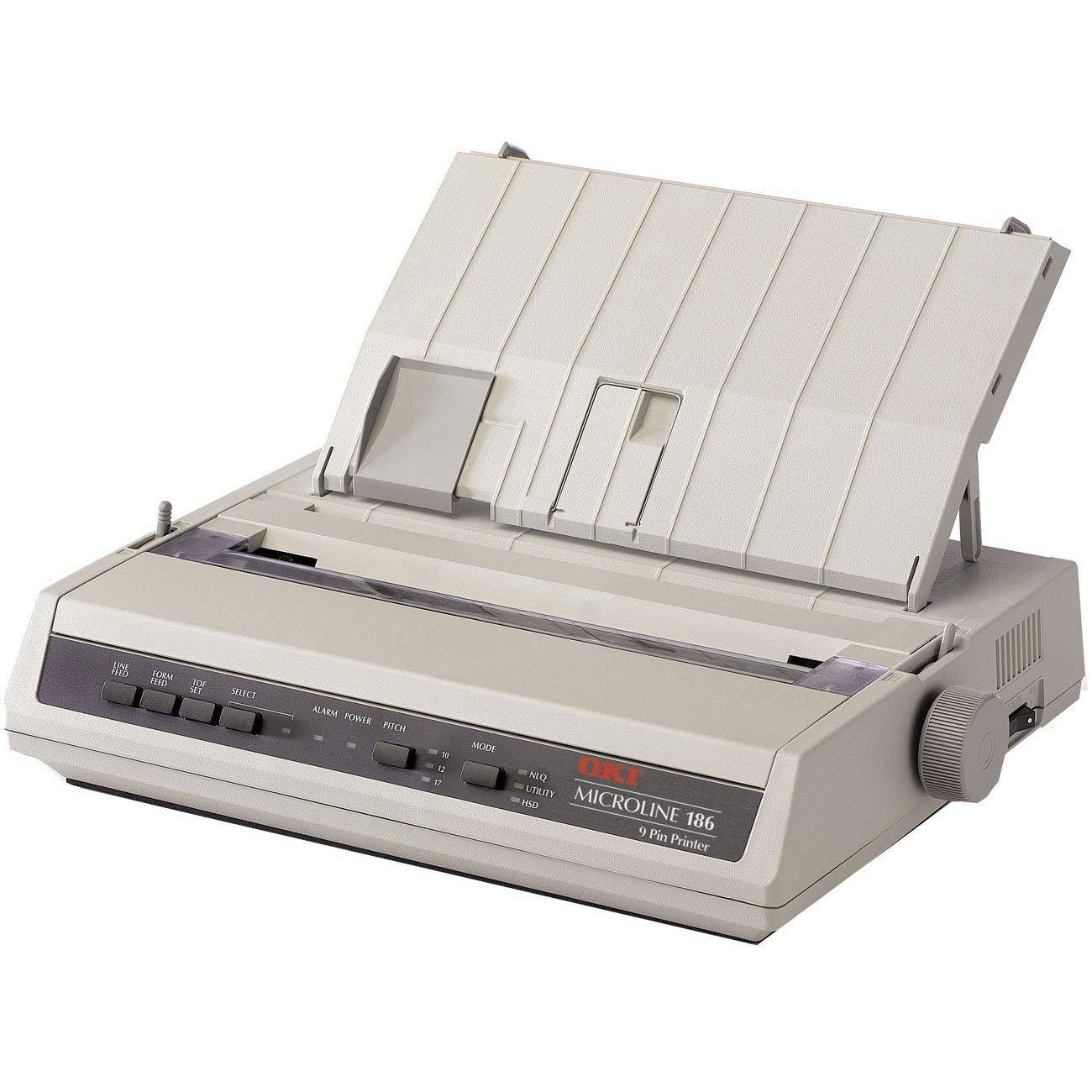 Oki MICROLINE 186 Dot Matrix Printer (62422401) (Renewed)