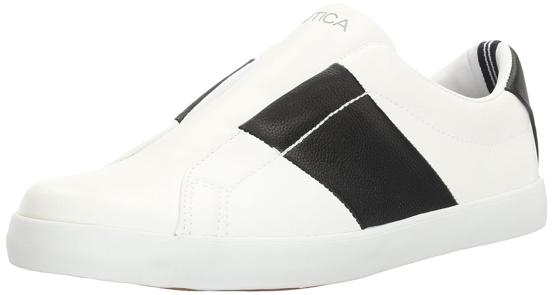 Nautica Women's Sail Tie Fashion Sneaker B01M5IKCVZ 9.5 B(M) US|White/Black