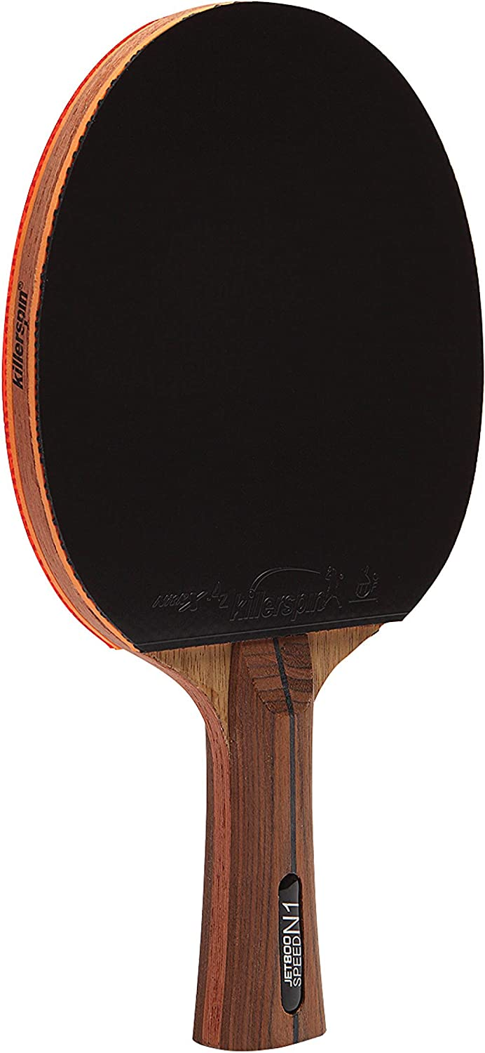 Killerspin Jet 800 Table Tennis Paddle, Professional Ping Pong Paddle, Table Tennis Racket with Carbon Fiber Blade, Nitrx Rubber Grips Ping Pong Balls, Memory Box for Storage – Red & Black : Table Tennis Rackets : Sports & Outdoors