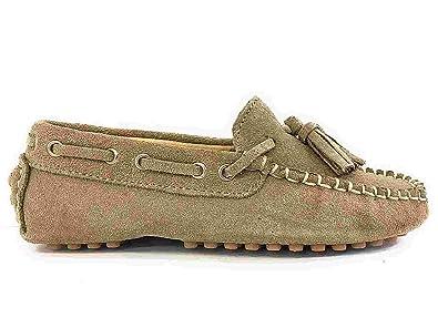 nueva llegada 6f9b0 011bf Oca Loca Boys' Mocasin Loafer Flats Beige Size: 10.5 Child ...