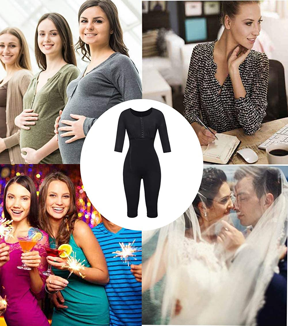 MISS MOLY Damen All In One Shapewear Figurformender Formende Bodys Taillenformer angenehm Shaping Bodysuit mit Haken