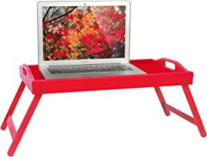 Bed Tray Table with Handle Folding Legs,Breakfast Tray for Bed,Sofa, Eating,Working,Use As Wooden Bamboo Kitchen Platters Laptop Desk Table Snack Serving Tray