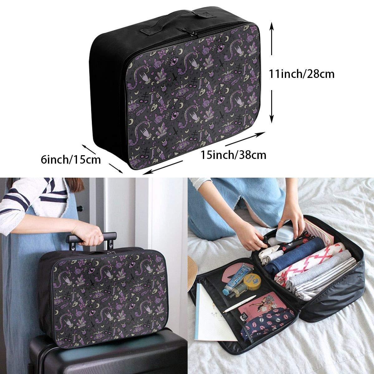 JTRVW Luggage Bags for Travel Purple Black Goth Spooky Travel Duffel Bag Waterproof Fashion Lightweight Large Capacity Portable Duffel Bag for Men /& Women