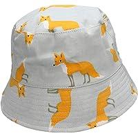 Ruhi Kids Boys Girls Explorer Animal Summer Bucket Sun Hat with Chin Strap (Khaki Fox, XXL - Age 4-8)