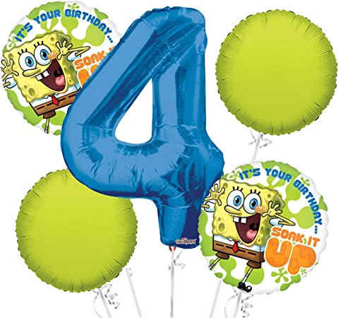 Merchant Medley Spongebob-Inspired 25ct Balloons High Quality Images Includes 5 Styles Large 12 Birthday Party Balloons
