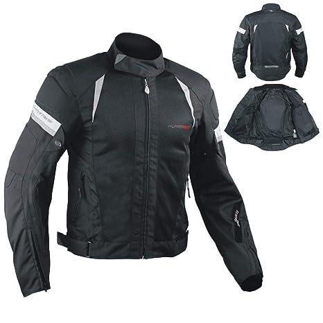 rivenditore di vendita 9ff8f 8e877 Giacca Moto estiva Tessuto Rete Mesh Traspirante Protezioni CE Cordura Nero  XL