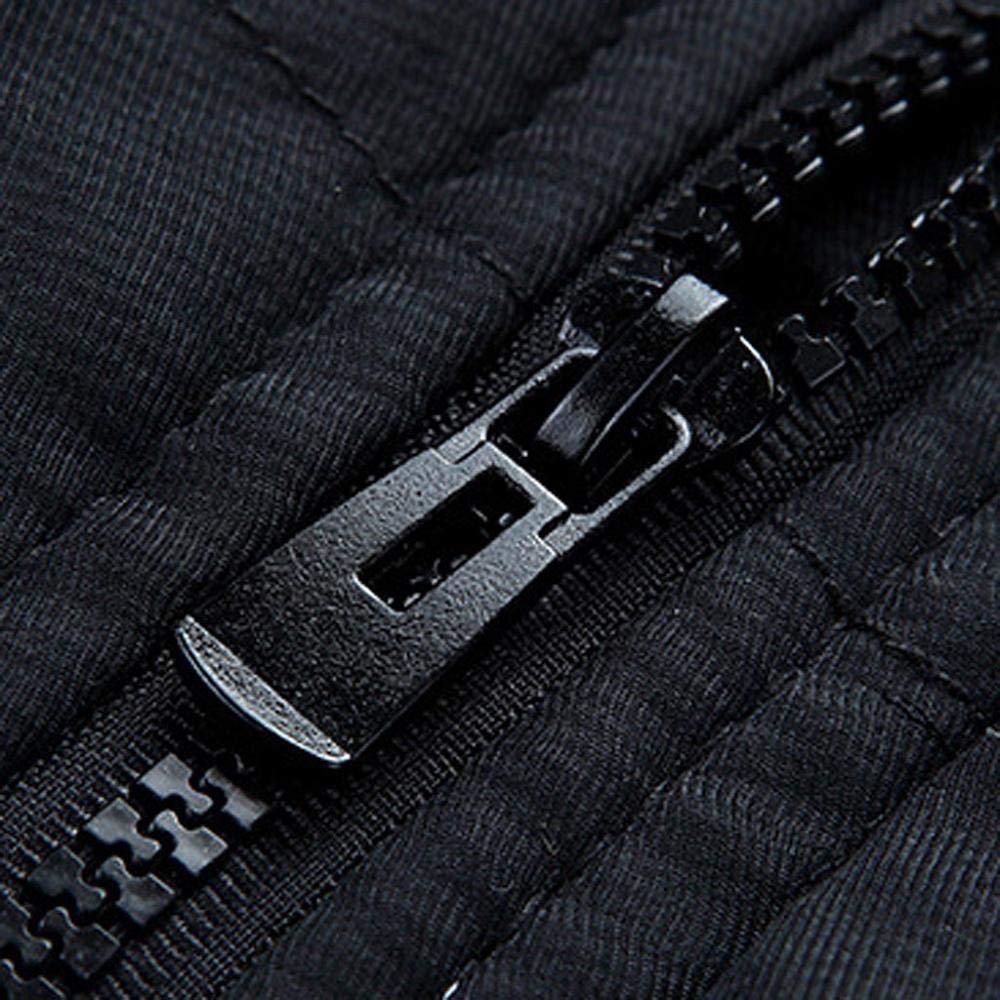 SUDADY Doudoune Parka Homme Plein Air Outwear a Capuche Épais Hiver Jackets pour Athletisme Outdoor Zippe Chaud Manteau a Capuche en Fourrure 2 Noir